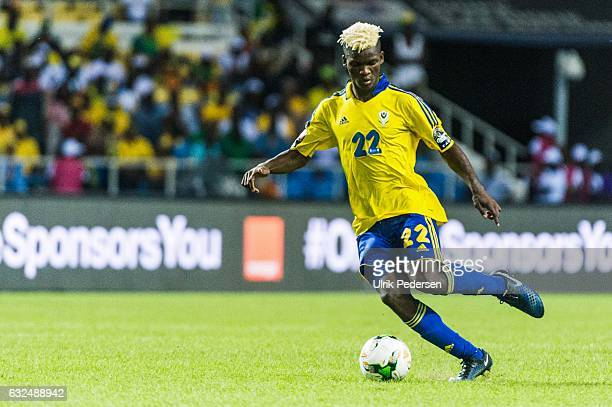 Didier Ndong of Gabon during the African Nations Cup match between Cameroon and Gabon at Stade de L'Amitie on January 22, 2017 in Libreville, Gabon.