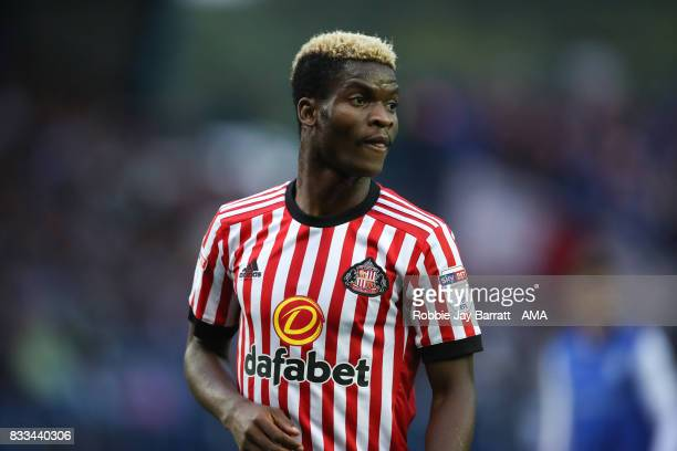 Didier Ndong of Sunderland during the Sky Bet Championship match between Sheffield Wednesday and Sunderland at Hillsborough on August 16 2017 in...