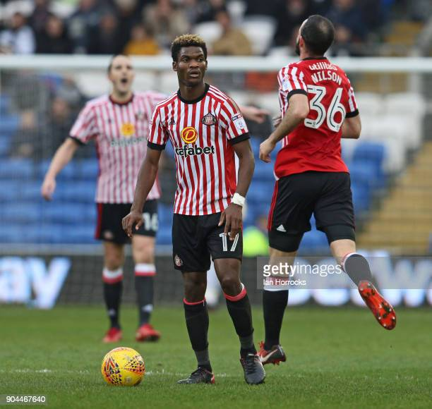 Didier N'Dong of Sunderland during the Sky Bet Championship match between Cardiff City and Sunderland at Cardiff City Stadium on January 13 2018 in...