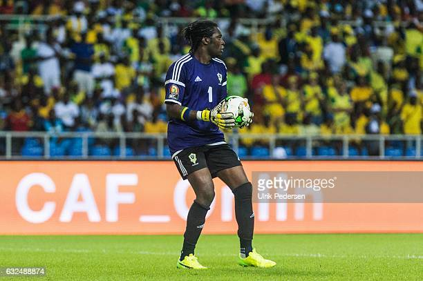 Didier Ovono of Gabon during the African Nations Cup match between Cameroon and Gabon at Stade de L'Amitie on January 22, 2017 in Libreville, Gabon.