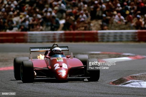 Didier Pironi, Ferrari 126C2, Grand Prix of France, Circuit Paul Ricard, France, July 25, 1982.
