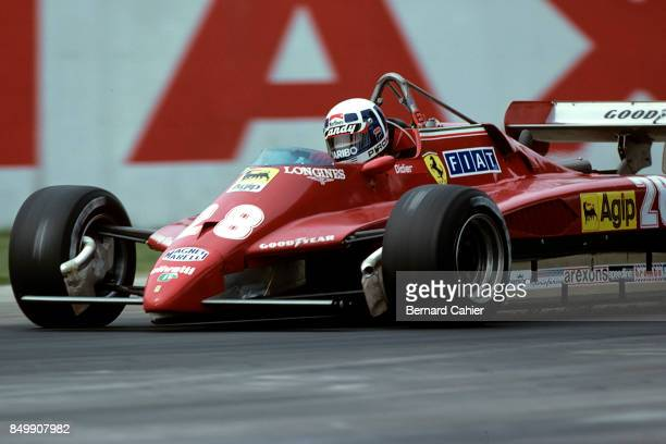 Didier Pironi, Ferrari 126C2, Grand Prix of San Marino, Imola-Autodromo Enzo e Dino Ferrari, Imola, Italy, April 25, 1982.