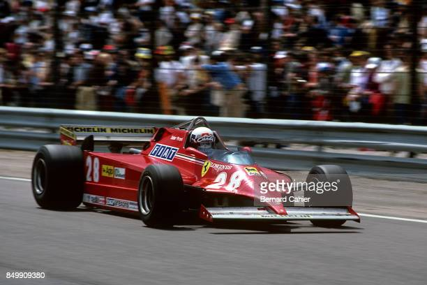 Didier Pironi, Ferrari 126CK, Grand Prix of France, Dijon-Prenois, Prenois, France, July 5, 1981.
