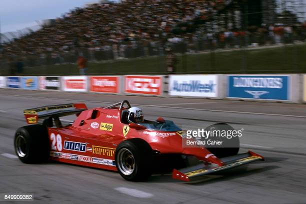 Didier Pironi, Ferrari 126CK, Grand Prix of the United States West, Grand Prix of Long Beach, Long Beach, California, March 15, 1981.