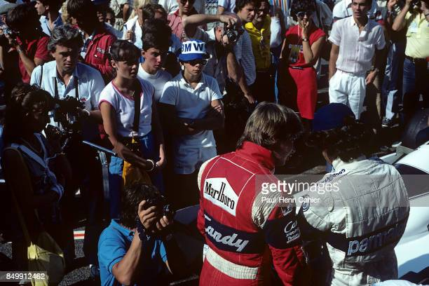 Didier Pironi, Nelson Piquet, Grand Prix of France, Circuit Paul Ricard, France, July 25, 1982.