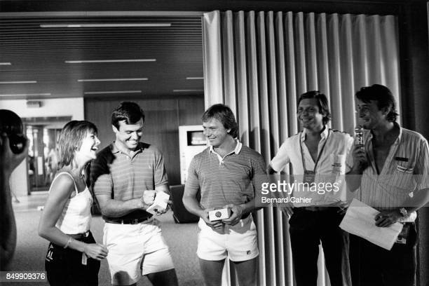 Didier Pironi, Patrick Tambay, Ferrari 126C2, Grand Prix of France, Circuit Paul Ricard, France, July 25, 1982. Didier Pironi and Patrick Tambay...