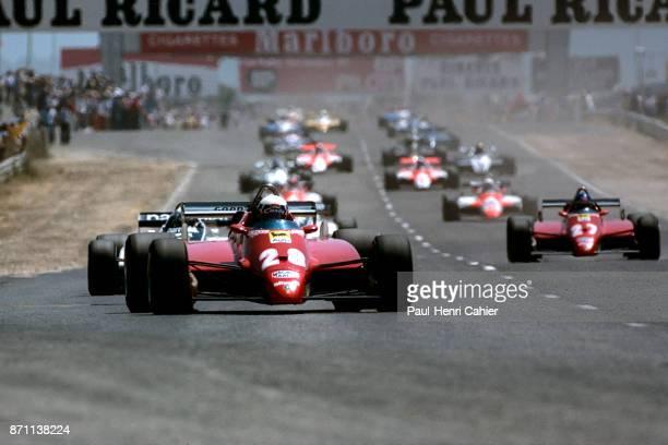 Didier Pironi Patrick Tambay Ferrari 126C2 Grand Prix of France Circuit Paul Ricard 25 July 1982 Didier Pironi leads at the start of the 1982 Grand...