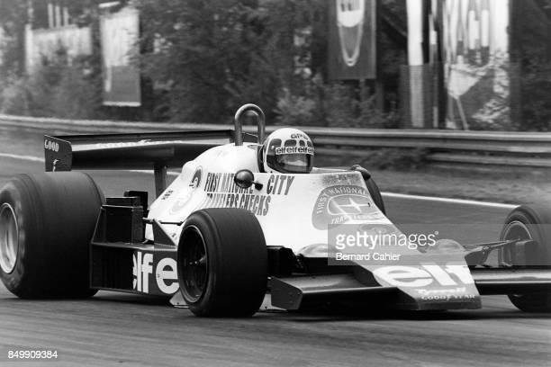 Didier Pironi, Tyrrell-Ford 008, Grand Prix of Belgium, Circuit Zolder, Heusden-Zolder, Belgium, May 21, 1978.