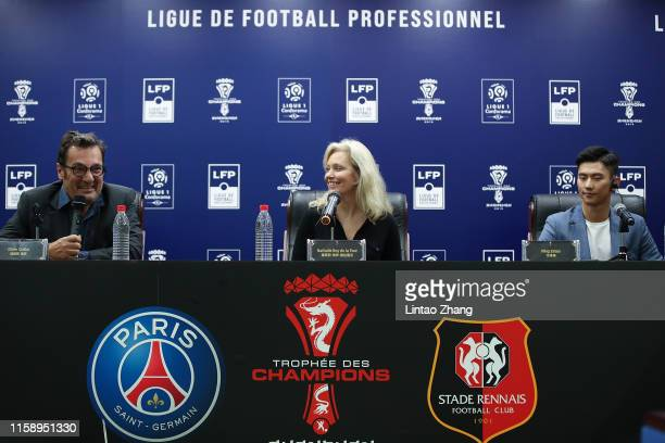 Didier Quillot General Executive Manager of LFP President of French Professional Football League and executive committee member Nathalie Boy De La...