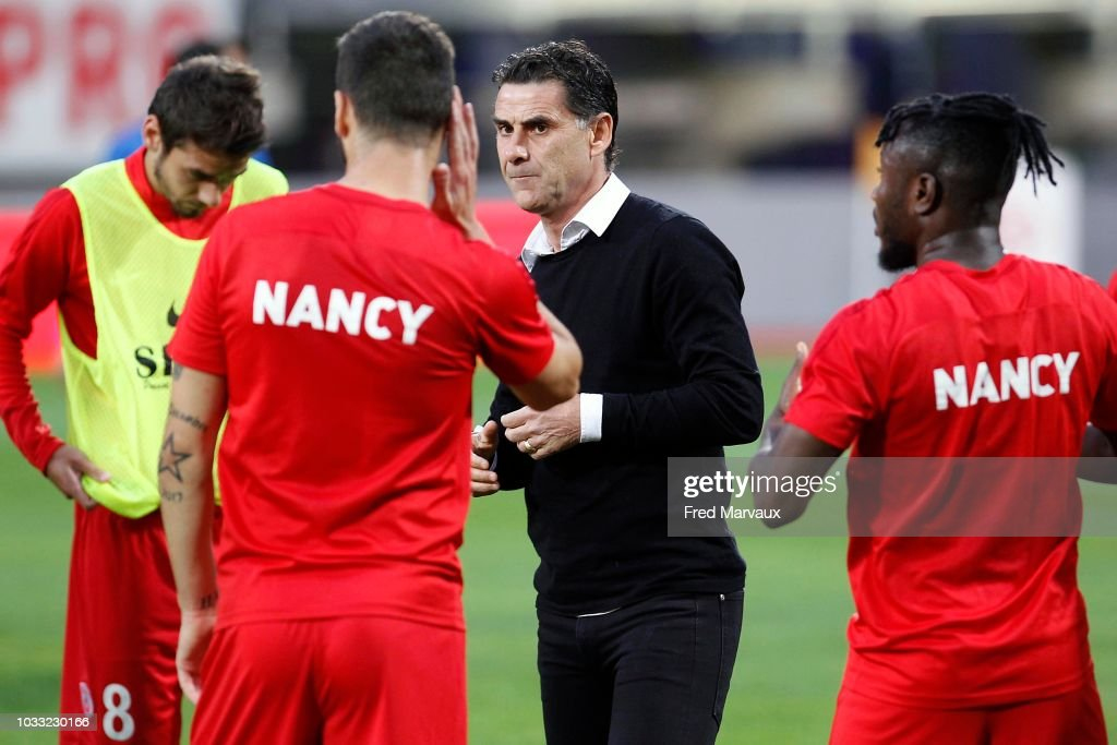 Didier Tholot coach of Nancy during the French Ligue 2 match between Nancy and Le Havre on September 14, 2018 in Nancy, France.