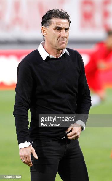 Didier Tholot coach of Nancy during the French Ligue 2 match between Nancy and Le Havre on September 14 2018 in Nancy France