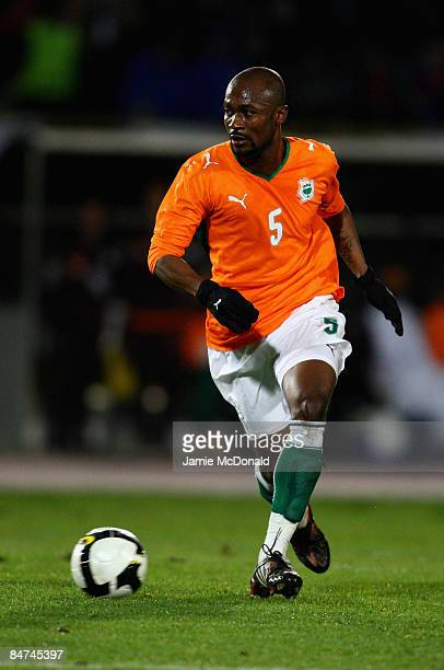 Didier Zokora of Ivory Coast runs with the ball during the International Friendly match between Turkey and Ivory Coast at the Izmir Ataturk Stadium...