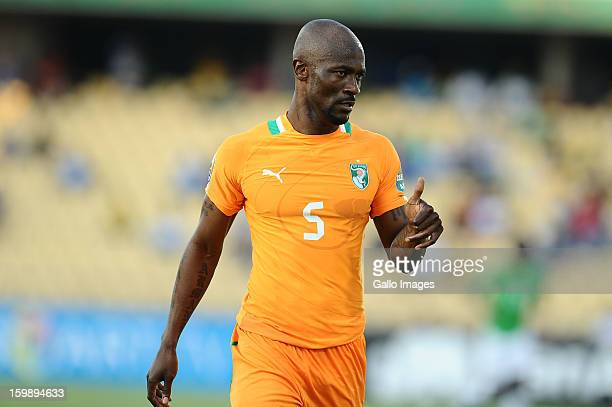 Didier Zokoro during the 2013 Orange African Cup of Nations match between Ivory Coast and Togo from Royal Bafokeng Stadium on January 22, 2012 in...