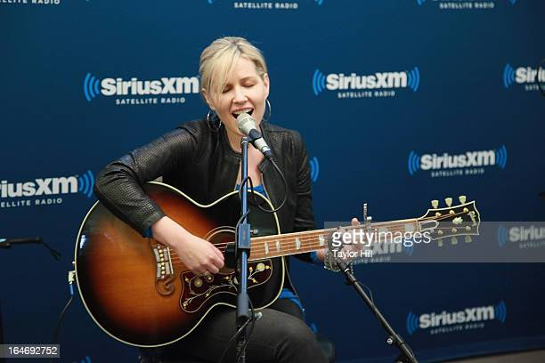 Dido performa on The Blend at SiriusXM Studios on March 26 2013 in New York City