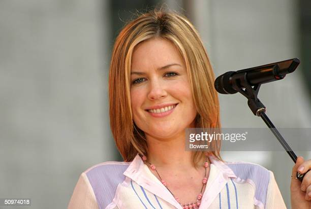 Dido performs during the Good Morning America Concert Series June 18 2004 in New York City