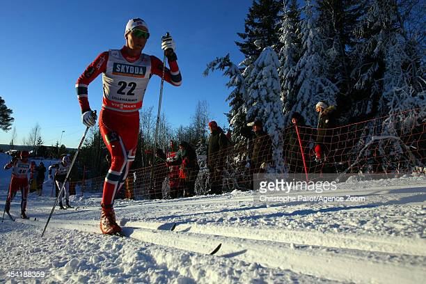 Didrik Toenseth of Norway takes 3rd place during the FIS CrossCountry World Cup Men's 15km on December 07 2013 in Lillehammer Norway