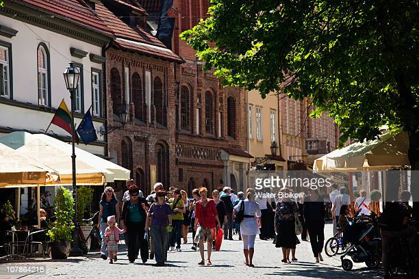 didzioji street - lithuania stock pictures, royalty-free photos & images