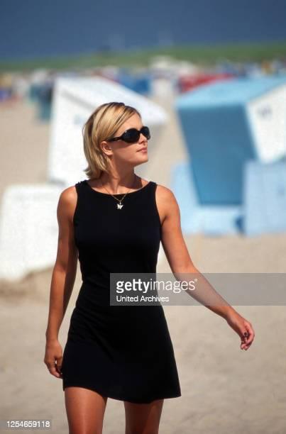 Die amerikanische Schauspielerin Nicole Eggert, Deutschland 1990er Jahre.