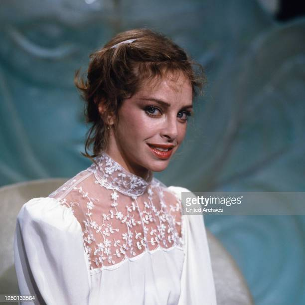 Die amerikanische Schauspielerin Sydne Rome, Deutschland 1980er Jahre.
