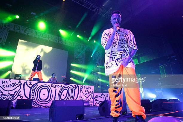 Die Antwort südafrikanische RapRaveBand aus KapstadtDonker MagTourDie Antwoord besteht aus Ninja ¥oLandi Vi$$er und DJ HiTek Palladium Köln