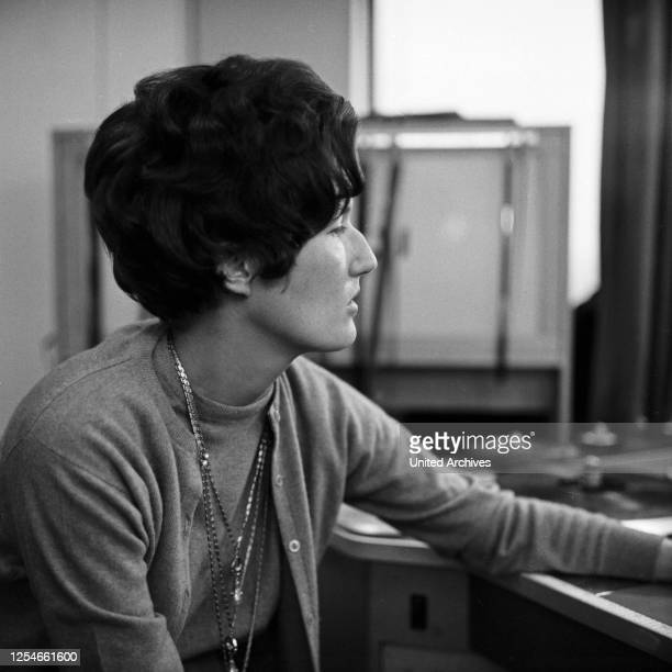 Die Autorin Mechthild Lange, Deutschland 1960er Jahre.