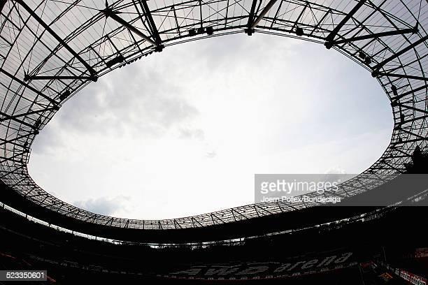 Die AWD Arena vor dem Bundesliga Spiel zwischen Hannover 96 und VfL Wolfsburg in der AWD Arena am April 11, 2012 in Hannover, Germany.