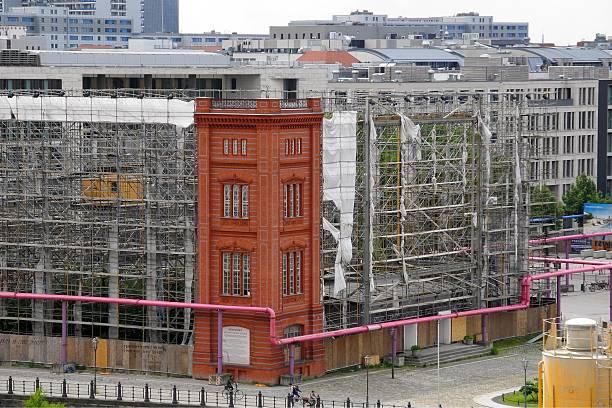 die bauakademie atrappe am werderschen markt in berlin pictures getty images. Black Bedroom Furniture Sets. Home Design Ideas