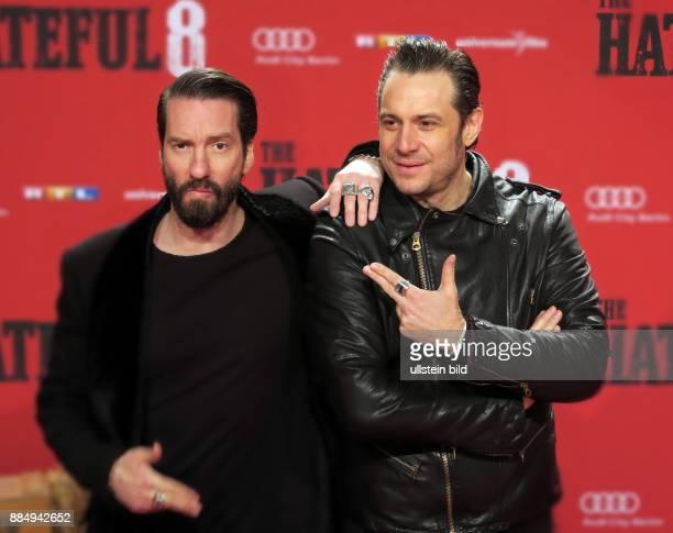 Die Bosshoss mUsiker Alec Völkel und Sascha Vollmer vl aufgenommen bei der Premier vom Film The Hateful 8 Eight im Kino Zoo Palast in Berlin...