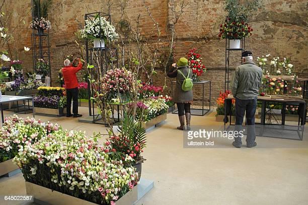 Die Buga 2015 hier in Brandenburg an der Havel ist ein besonderer MagnetHier die Blumenschau in der Kirche St Johannis