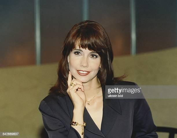 Die deutsche Moderatorin Kristiane Backer Aufgenommen Juli 1997