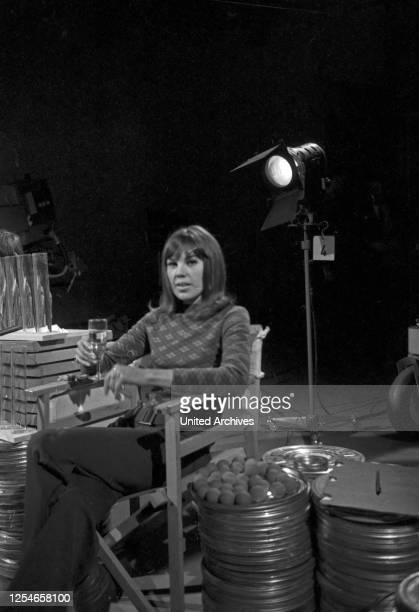 Die deutsche Regisseurin May Spils in Hamburg, Deutschland 1960er Jahre.