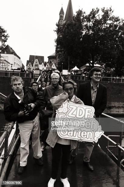 Die deutsche Sendung ZDF Fernsehgarten- .
