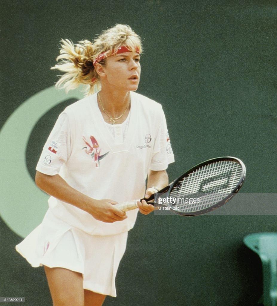 Die Deutsche Tennisspielerin Sabine Hack Aufgenommen November 1992