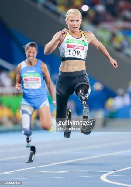 ARCHIV Die Deutsche Vanessa Low läuft am in Rio de Janeiro bei den Paralympics im Finale der Frauen über 100m T42 zur Silbermedaille Foto Kay...