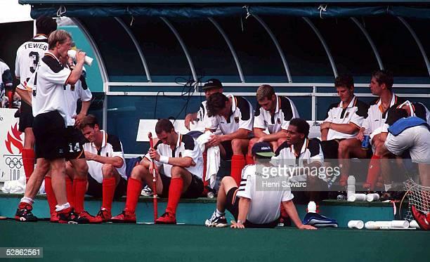 HOCKEY Maenner/AUS GER 32 ATLANTA 1996 2896 Die deutschen Hockeyspieler verlieren das Spiel um Platz 3 gegen die Australier