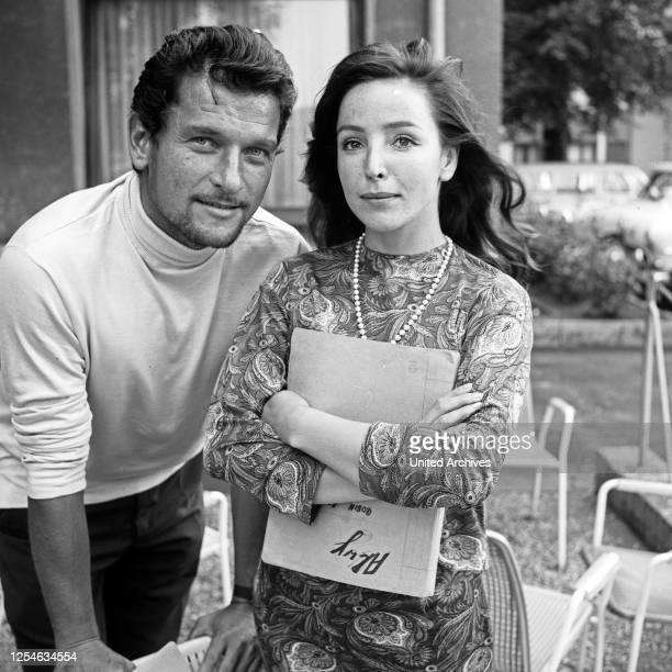 Die deutschen Schauspieler Hans von Borsody und Alwy Becker, Deutschland 1960er Jahre.