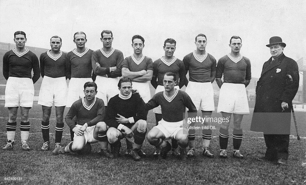 Fussball, 'Wunderelf' Österreich 1932 : News Photo