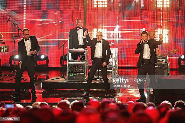Die Fantastischen Vier perform on stage at the GQ Men of the year Award 2015 show at Komische Oper on November 5, 2015 in Berlin, Germany.
