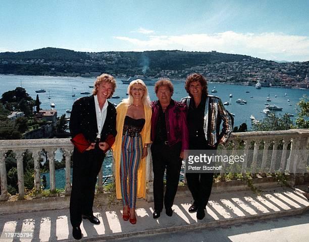 Die Flippers Olaf Malolepski BerndHengst Manfred Durban mit MarleneCharell ZDFShow Das Leben ist eineWundertüte Nizza/Frankreich