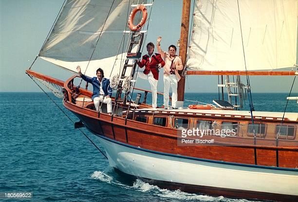 Die Flippers Olaf Malolepski BerndHengst Manfred Durban Rhodos/Griechenland Urlaub ZDFShowSegelschiff Schiff