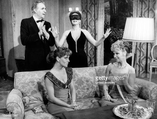 Die großen Sebastians, Fernsehfilm, Deutschland 1979, Regie: Wolfgang Spier, Darsteller: hinten: Peter Pasetti, Johanna von Koczian, vorn: Gaby...