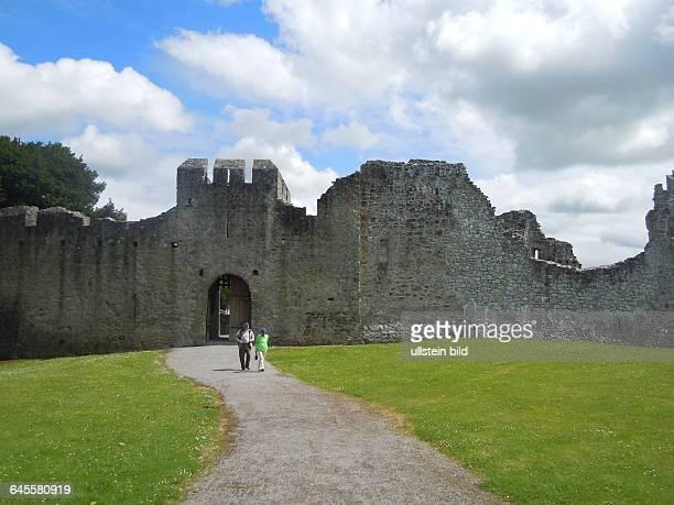 Die gut erhaltene ehemalige Normannische Festung aus dem 13 Jahrhundert ist eine touristische Sehenswürdigkeit aufgenommen am 22 Juli 2015 in der...
