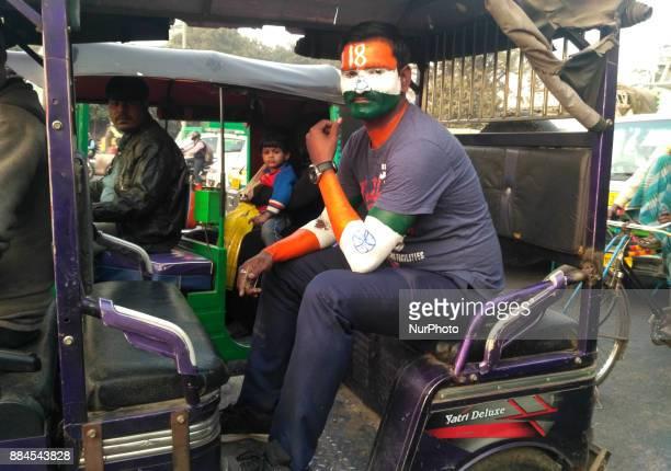 Die Hard fan of Virat Kohli stuck in Traffic Jam out side Feroz Shah Kotla Ground In Delhi on the 1st day of 3rd Cricket Test match between India amp...