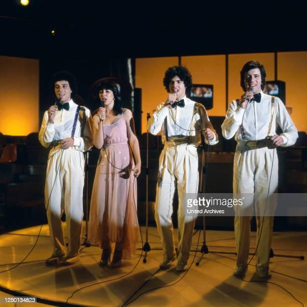 """Die israelische Band """"Milk & Honey"""" mit Sängerin Gali Atari, Deutschland 1970er Jahre."""
