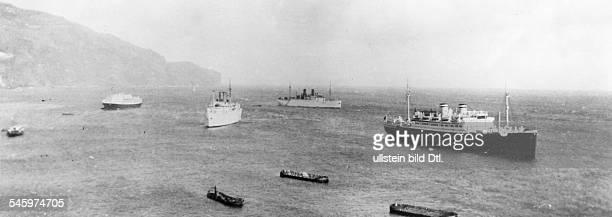 Die KdFSchiffe `St Louis' `Der Deutsche' und `Sierra Cordoba' vor Funchal auf Madeira 1936