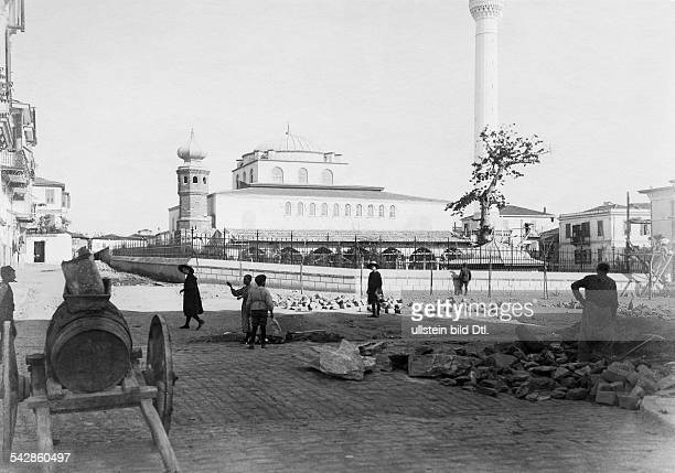 Die Kirche Agia Sofia 1907 1910 vonder türkischen Verwaltung als Moscheerestauriert um 1910