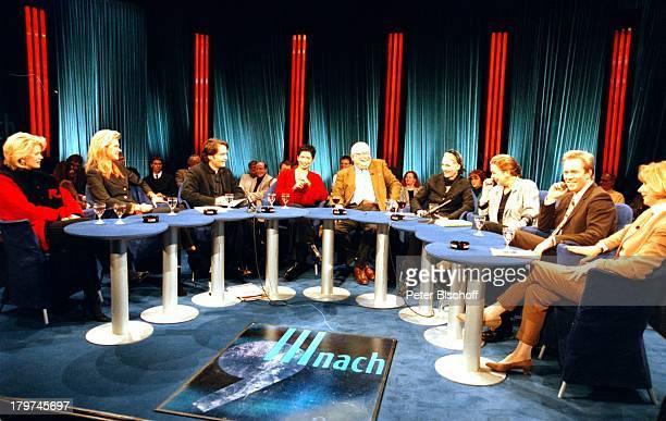 """Die komplette """"III nach 9""""-Runde vom; : Karin Tietze-Ludwig,;Nina Ruge, Moderator Giovanni di Lorenzo,;Sandra Speichert, Erich Böhme, Desire..."""