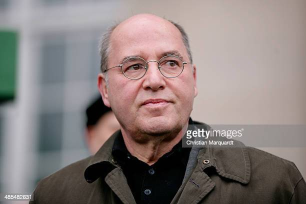 'Die Linke' fraction Leader Gregor Gysi gives a speech during the the ecumenical Good Friday procession on April 18 2014 in Berlin Germany Under the...