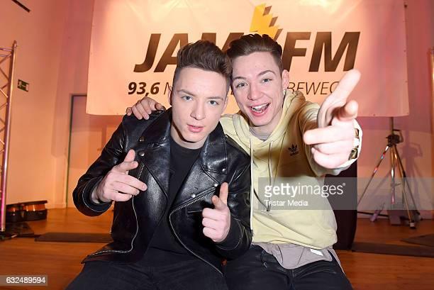 'Die Lochis' during the 936 JAM FM Radio Schulkonzert on January 23 2017 in Berlin Germany