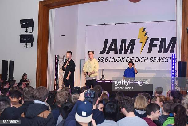 'Die Lochis' perform at the 936 JAM FM Radio Schulkonzert on January 23 2017 in Berlin Germany